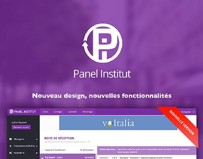 Refonte graphique du site Panel-institut.com