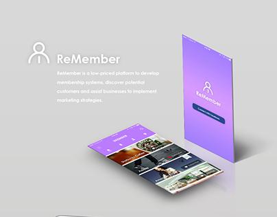 ReMember - membership systems (mobile app)