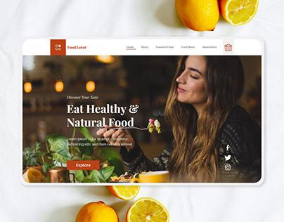 food UI design - modern UI design