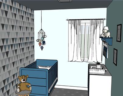 projeto para quarto de bebe menino