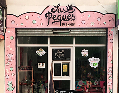 Las Peques Pet Shop | Logo + Local + imanes