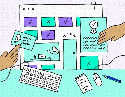 Illustrations for Designlab