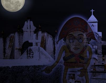 Animação 2D com fotografia: Finado Lampião