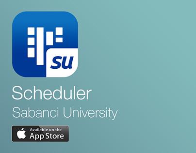 Scheduler - Sabanci University UI/UX Design