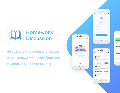 Homework Discussion Mobile App Concept