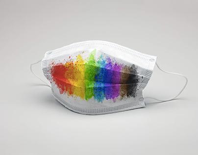Watercolor LGBTQ Pride Face Mask