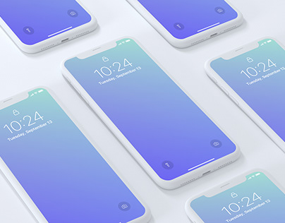 iPhone X Screens Mockup