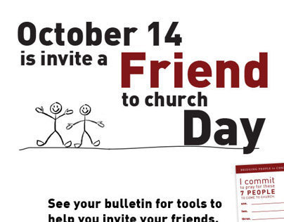 Invite a Friend to Church Day! on Behance