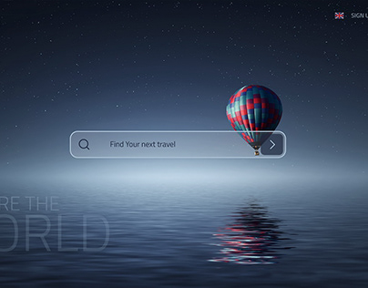 Travel Website. Adobe XD Daily Creative Challenge