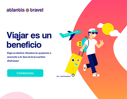UI/UX Website App Design- Atlantis Travel