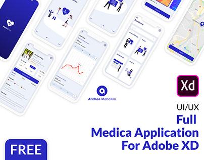 Medica - Free App - Adobe XD Template