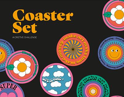 Coaster set | Ai creative challenge