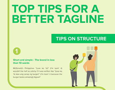 Top Tips For A Better Tagline Infographics
