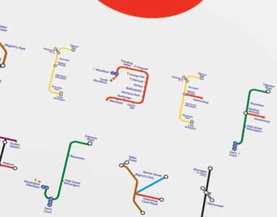 The London Underground typeface  - University Project
