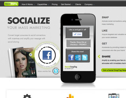 UI Design, and Front-End for Social Snap Tag