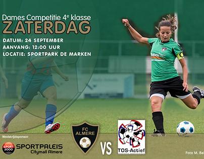 Dames voetbal FC Almere