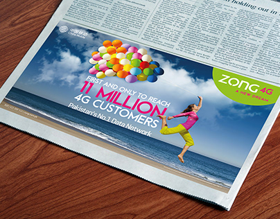 Zong 11 million 4G Customers