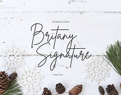 Free Font - Brittany Signature