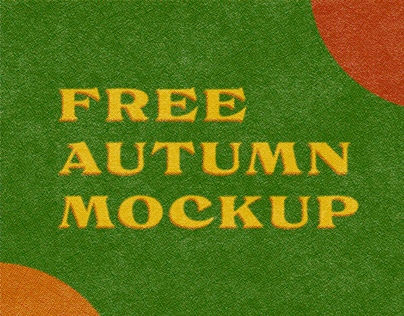 Autumn Collection Free PSD Mockup