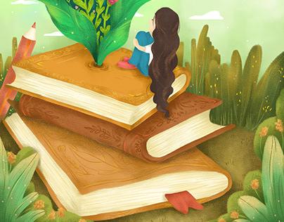 Learn and Grow - Illustration for Calendar