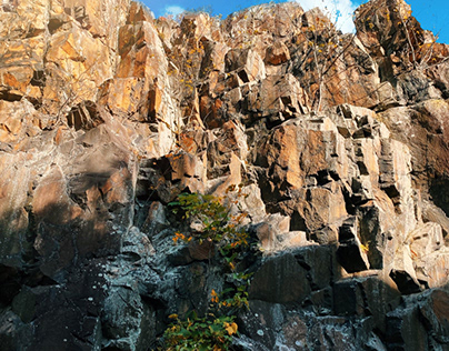View of a cliff