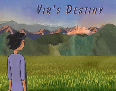 Scenes from narrative driven game Vir's Destiny