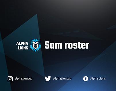 Alpha Lions SAM Beta roster presentation