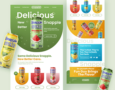 Snapple landing page redesign