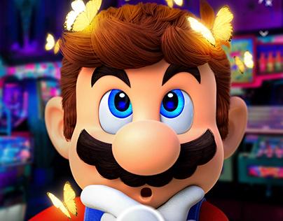 Super Mario on Snapchat filter - Photoshop Manipulation