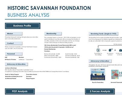 Historic Savannah Foundation Business Analysis