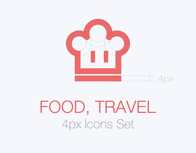 Food,-trave & icons set