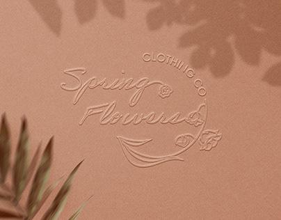 Women's Clothing Flower Logo Design