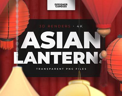 Asian Lanterns (PNGs)
