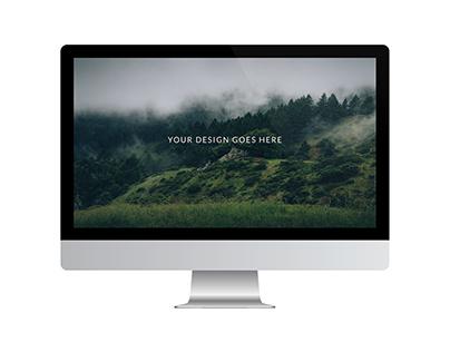 Desktop Vector Mockup Set + Flat Version