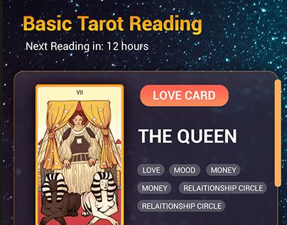 Tarot Reading app UI