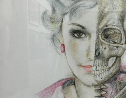 Coloured pencil - mixed media portrait drawings