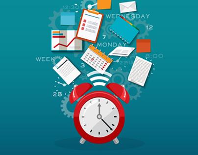 Time management , Time & money concept