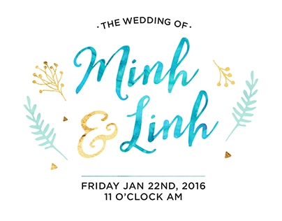 THE WEDDING INVITATION DESIGN
