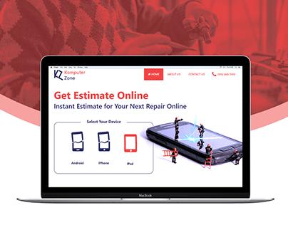 KomputerZone - Mobile Repair | Website UI/UX