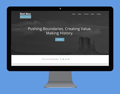Black Mesa Holdings corporate website design