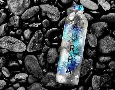 Mineral water Aurra's branding