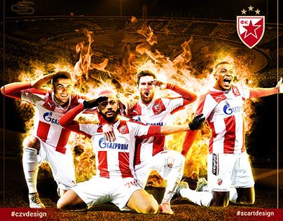 Red star poster design - Crvena zvezda poster design