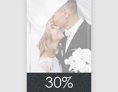Giftvoucher minimal style for Wedding Photo-session