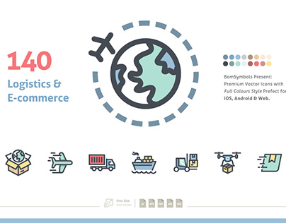 Logistics & Business E-commerce Icon Set