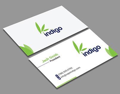 """My New Work-""""Business Card Indigo"""" (my freelancer work)"""