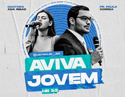 Social Media Church / Aviva Jovem / Flyer Animado