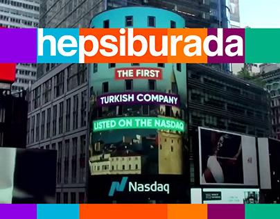 Hepsiburada Nasdaq Bell Ceremony / Motion Design