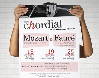 Flyer et affiche Chordial (2017)