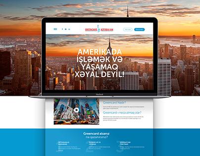 Website design for Greencard.az