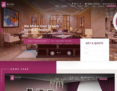 Alma Interiors Website Design